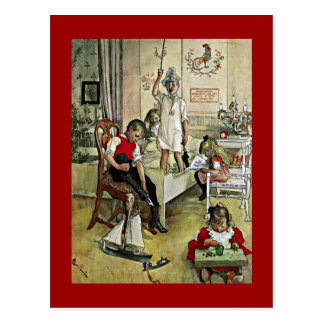 Arte de Carl Larsson: Mañana de navidad Tarjetas Postales