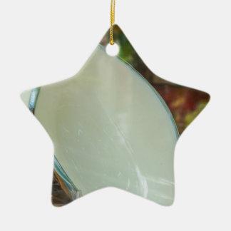 Arte de cerámica adorno navideño de cerámica en forma de estrella