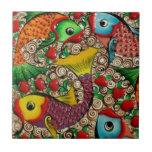 Arte de cerámica colorido de los pescados azulejo cerámica