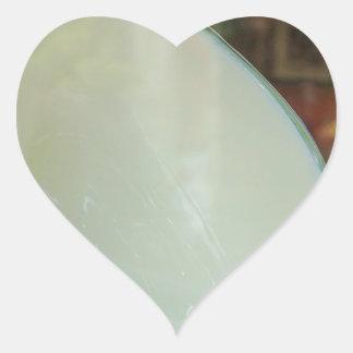 Arte de cerámica pegatina en forma de corazón