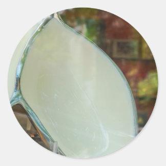 Arte de cerámica pegatina redonda
