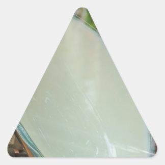 Arte de cerámica pegatina triangular