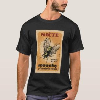 Arte de Checo de la mosca de la casa de Mouchy Playera