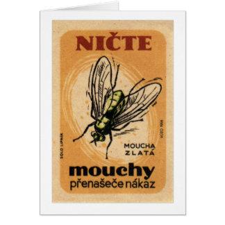 Arte de Checo de la mosca de la casa de Mouchy Tarjeta De Felicitación