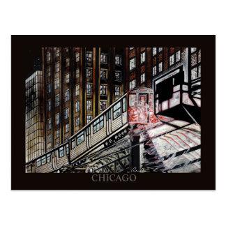 Arte de Chicago Randsom del tren del EL Postales