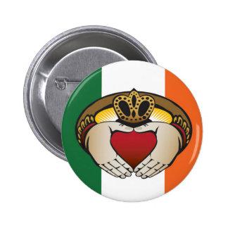 Arte de Claddagh del irlandés Pin Redondo 5 Cm