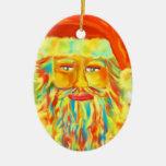 """Arte de """"Claus colorido"""" Santa personalizado Ornaments Para Arbol De Navidad"""