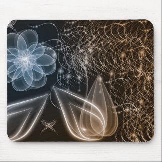 Arte de cobre y azul del fractal alfombrillas de raton