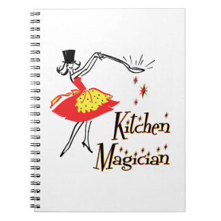 Arte de cocinar retro del mago de la cocina cuaderno