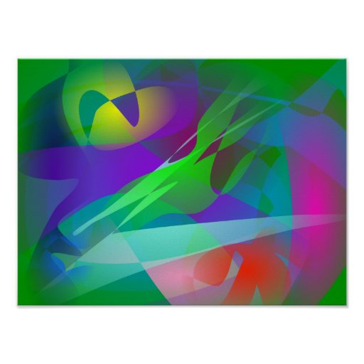 Arte de color verde oscuro impresiones