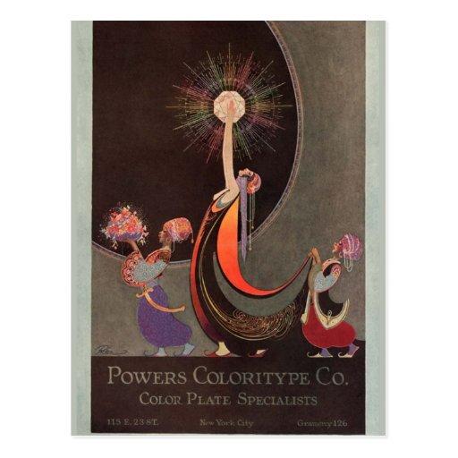 Arte de Coloritype Co. de los poderes en tarjetas Tarjetas Postales