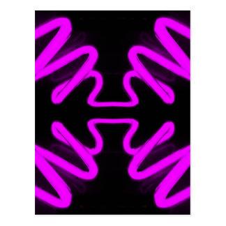 Arte de CricketDiane y púrpura de neón del diseño Tarjeta Postal