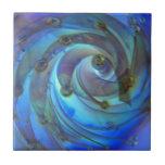 Arte de cristal azul abstracto de la burbuja de Oc Azulejo Cerámica