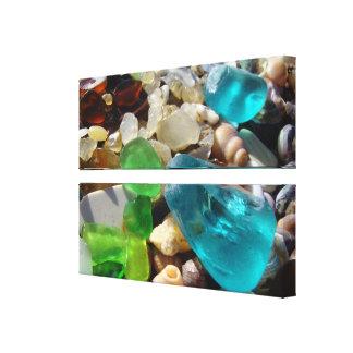 Arte de cristal azul de la lona de las ágatas de lona envuelta para galerias