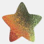 Arte de cristal con verde rojo y el naranja