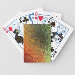 Arte de cristal con verde rojo y el naranja cartas de juego