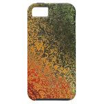 Arte de cristal con verde rojo y el naranja iPhone 5 protectores