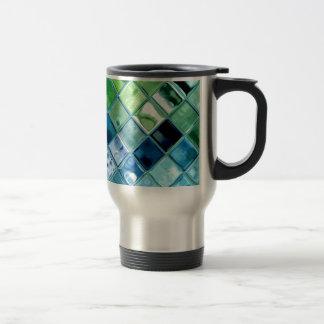 Arte de cristal de la teja de mosaico del trullo d taza