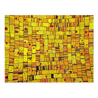 Arte de cristal de la teja del Balinese - amarillo Postales