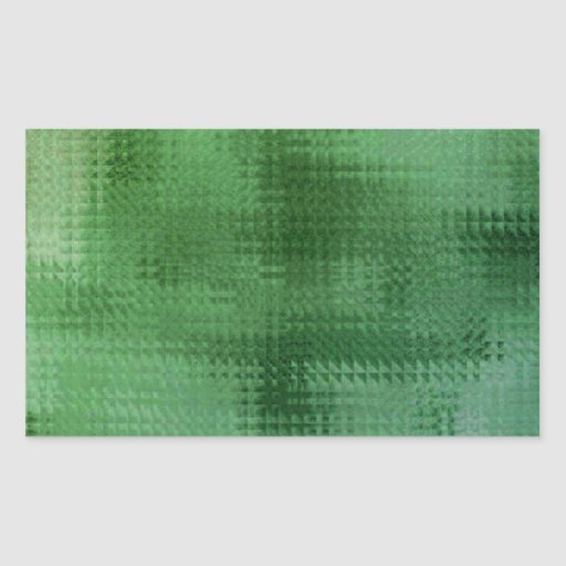 Arte de cristal del efecto de la malla verde pegatina rectangular