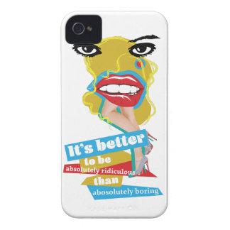 Arte de Dada del labio de Wellcoda Merilyn Monroe iPhone 4 Fundas