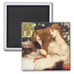 Arte de Dante Gabriel Rossetti Imán Para Frigorífico