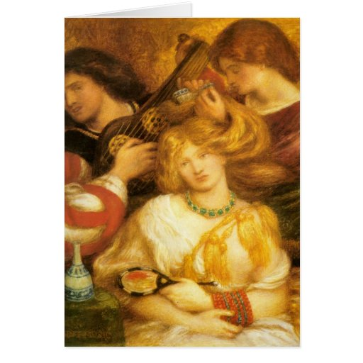 Arte de Dante Gabriel Rossetti Tarjeta De Felicitación