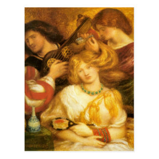 Arte de Dante Gabriel Rossetti Postal