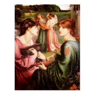 Arte de Dante Gabriel Rossetti Tarjeta Postal