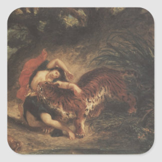 Arte de Delacroix Pegatina Cuadrada