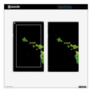 Arte de Digial de la cadena de la isla de Hawaii Skin Para Kindle Fire