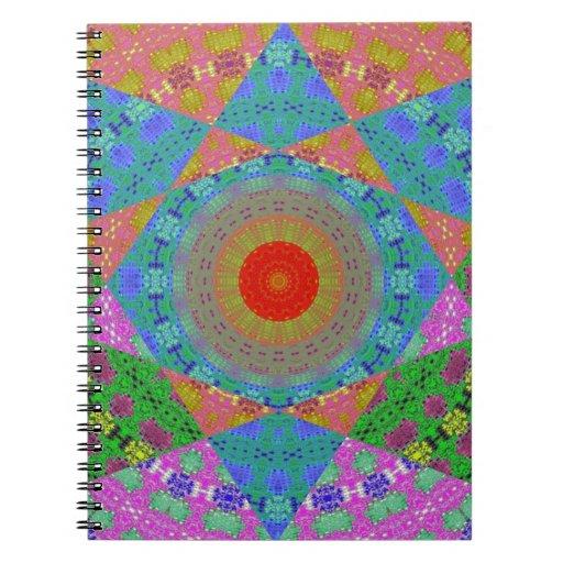 Arte de Digitaces de la estrella del remiendo Libretas Espirales