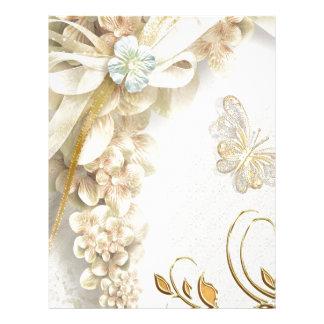 Arte de Digitaces de las mariposas y de los orname Membrete Personalizado
