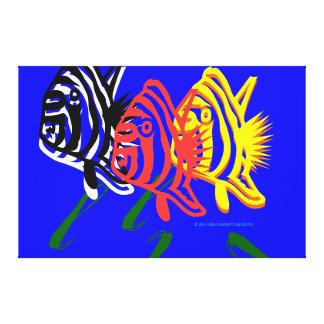 Arte de Digitaces de los pescados en vuelo por