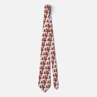 Arte de Digitaces de los rosas rojos Corbata Personalizada