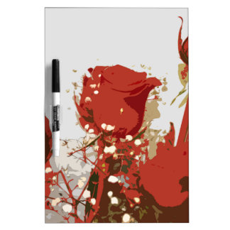 Arte de Digitaces de los rosas rojos Pizarra