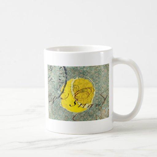 Arte de Digitaces del limón Taza