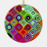 Arte de Digitaces del navidad del mosaico Ornamentos De Navidad