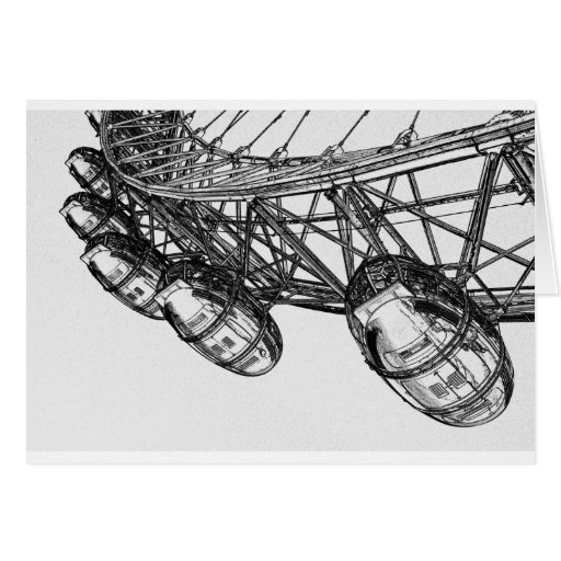 Arte de Digitaces del ojo de Londres Tarjeton