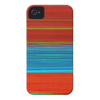 Arte de Digitaces en la identificación azul y roja Case-Mate iPhone 4 Funda