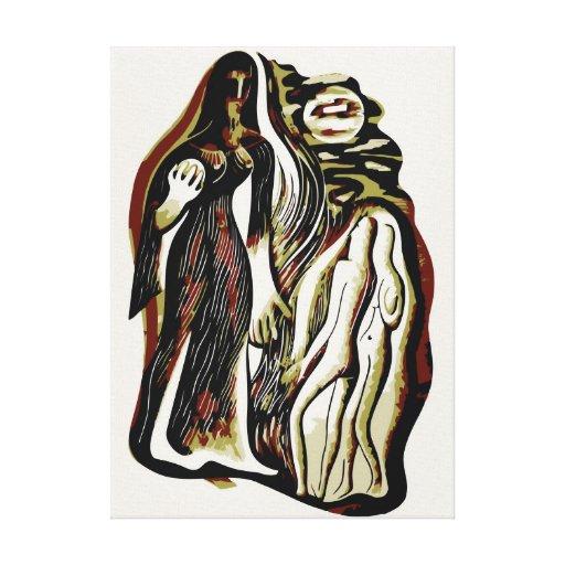 Arte de Digitaces: ISIS de la diosa en búsqueda Impresión En Lona Estirada