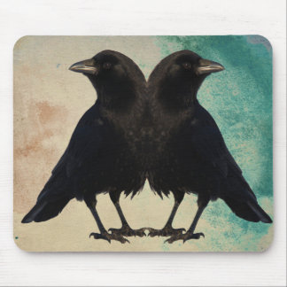 Arte de dos cuervos alfombrillas de ratones