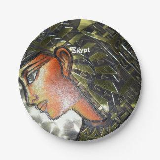 Arte de Egipto Platos De Papel