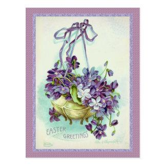 Arte de Ellen Clapsaddle de las violetas de Pascua Tarjetas Postales