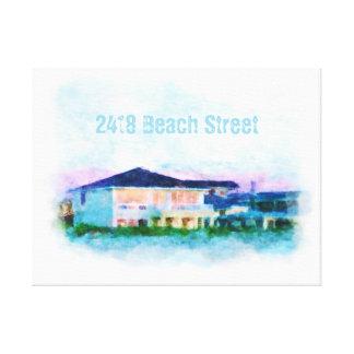 Arte de encargo de Digitaces de la casa de playa e Impresión De Lienzo