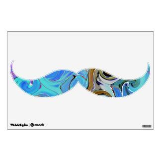 Arte de encargo de la pared del bigote de la ola vinilo adhesivo