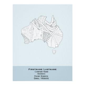 Arte de encargo del mapa de Australia del color