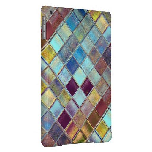 Arte de encargo del mosaico de la teja de la brisa funda para iPad air
