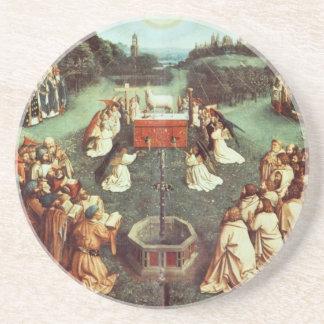 Arte de enero Ven Eyck Posavasos Para Bebidas