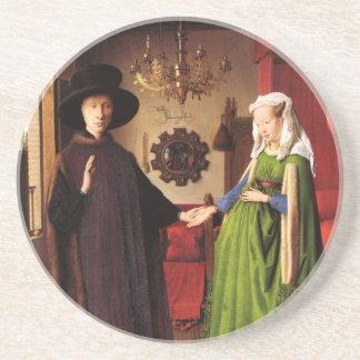 Arte de enero Ven Eyck Posavasos Diseño